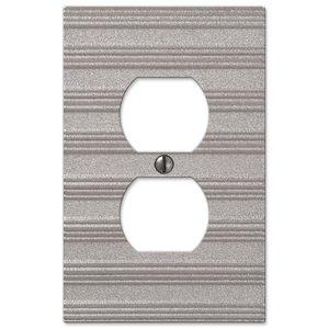 Amerelle Wallplates Single Duplex Wallplate in Frosted Nickel