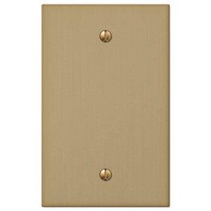 Amerelle Wallplates Single Blank Wallplate in Brushed Bronze