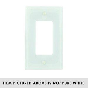 Amerelle Wallplates Acrylic Single Rocker Wallplate in White Glass