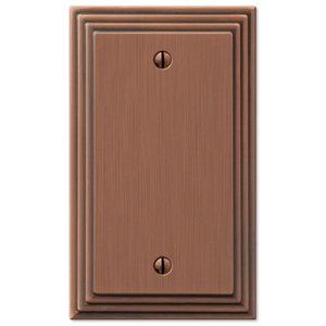 Amerelle Wallplates Single Blank Wallplate in Antique Copper