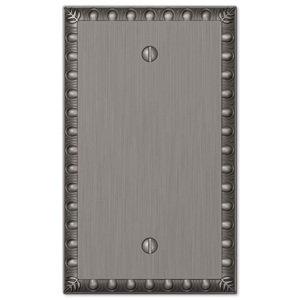 Amerelle Wallplates Single Blank Wallplate in Antique Nickel