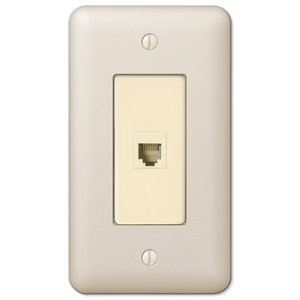 Amerelle Decorative Wallplates - Devon - Single Phone Wallplate in Light Almond