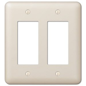 Amerelle Decorative Wallplates - Devon - Double Rocker Wallplate in Light Almond