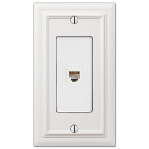 Amerelle Wallplates Single Phone Wallplate in White