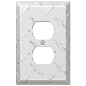 Amerelle Wallplates Single Duplex Wallplate in Aluminum