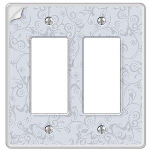 Amerelle Wallplates Paper-It Clear Composite Double Rocker Wallplate in Clear