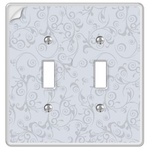Amerelle Wallplates Paper-It Clear Composite Double Toggle Wallplate in Clear
