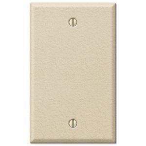 Amerelle Wallplates Single Blank Wallplate in Ivory Wrinkle
