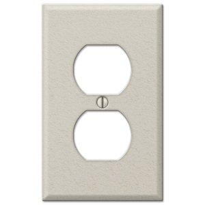 Amerelle Wallplates Single Duplex Wallplate in Almond Wrinkle