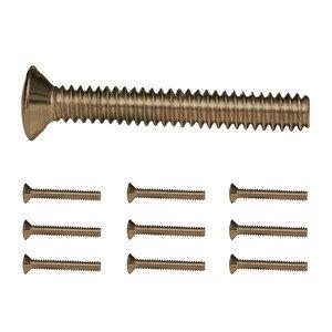 "Amerelle Wallplates 10 Pack of 1"" Wallplate Screws in Antique Brass"