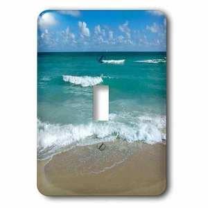 Jazzy Wallplates Single Toggle Switch Plate With Miami Beach Sand