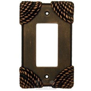 Anne at Home Roguery Switchplate Rocker/GFI Switchplate in Gold