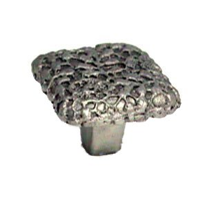"""LW Designs Cottage Lace Square Knob - 1 1/2"""" in Pewter Matte"""