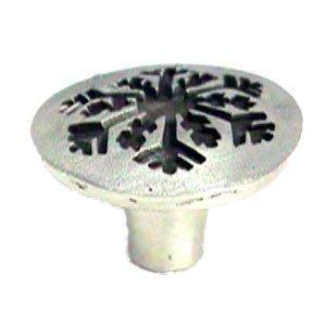"""LW Designs Snowflake Knob - 1 1/2"""" in Pewter Matte"""