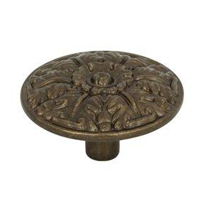 """Atlas Homewares Ornate 1 1/2"""" Round Knob in Burnished Bronze"""