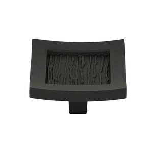 "Atlas Homewares 1 1/2"" Square Knob in Matte Black"
