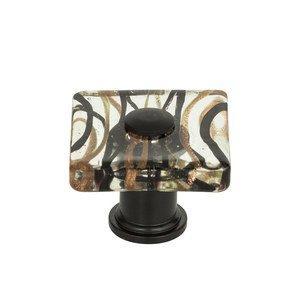 """Atlas Homewares 1 1/2"""" Milky Way Square Knob in Aged Bronze"""
