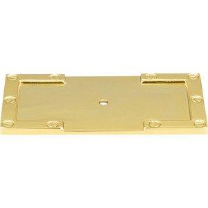 """Atlas Homewares 3 11/16"""" L-Bracket Backplate in Polished Brass"""