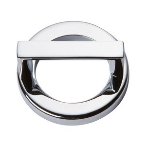 """Atlas Homewares 1 7/8"""" Centers Round Base In Polished Chrome With Squared Handle In Polished Chrome"""