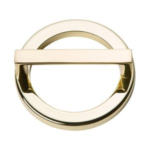 """Atlas Homewares 2 1/2"""" Centers Round Base In French Gold With Squared Handle In French Gold"""