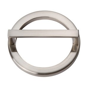"""Atlas Homewares 3"""" Centers Round Base In Brushed Nickel With Squared Handle In Brushed Nickel"""