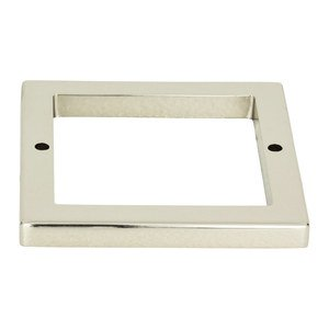 """Atlas Homewares 2 1/2"""" Centers Square Base In Polished Nickel"""
