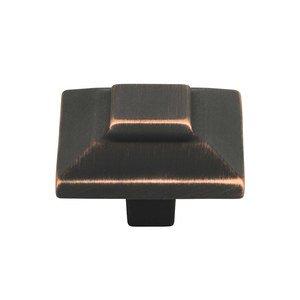 "Atlas Homewares 1 1/2"" Large Square Knob in Venetian Bronze"