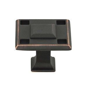 "Atlas Homewares Modern 1 3/8"" Squares Knob In Venetian Bronze"