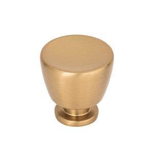 """Atlas Homewares 1 1/4"""" Round Knob in Warm Brass"""