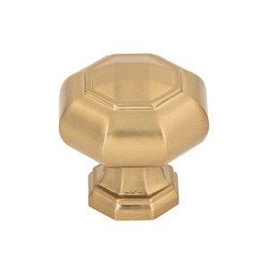 "Atlas Homewares 1 1/4"" Octagonal Knob in Warm Brass"