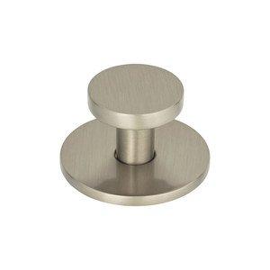 """Atlas Homewares 1 1/4"""" Diameter Knob in Brushed Nickel"""