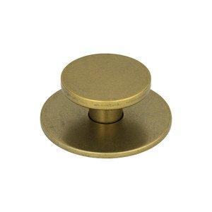 "Atlas Homewares 2"" Diameter Knob in Vintage Brass"