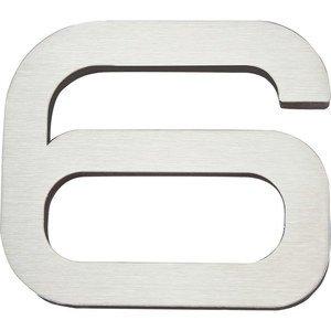 Atlas Homewares # 6 Self-Adhesive House Number in Stainless Steel