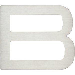"Atlas Homewares 4"" Self-Adhesive Fixing Letter B in Stainless Steel"