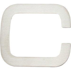 "Atlas Homewares 4"" Self-Adhesive Fixing Letter C in Stainless Steel"