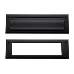 Baldwin Hardware Magazine Size Mail Slot in Satin Black