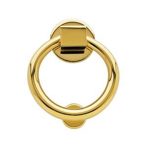 Baldwin Hardware Ring Knocker in Lifetime PVD Polished Brass