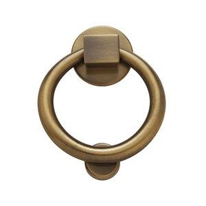 Baldwin Hardware Ring Knocker in Satin Brass & Black