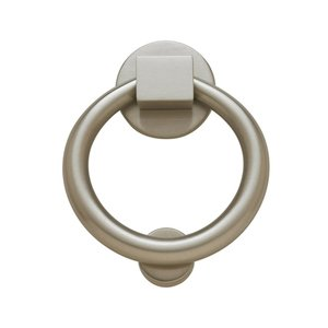 Baldwin Hardware Ring Knocker in Satin Nickel