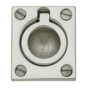 "Baldwin Hardware 1 1/2"" Recessed Ring Pull in Polished Nickel"