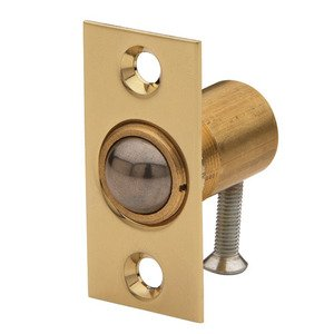 Baldwin Hardware Adjustable Ball Catch (Fitted in Door) in Lifetime PVD Polished Brass