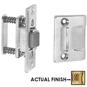 Baldwin Hardware Roller Latch with Full Lip Strike in Polished Brass