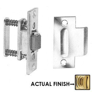 Baldwin Hardware Roller Latch with T Strike in NonLacquered Brass