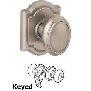 Prestige - Keyed Carnaby Door Knob in Satin Nickel - Baldwin ...