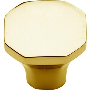 "Baldwin Hardware 1 1/16"" Diameter Severin B Knob in Polished Brass"