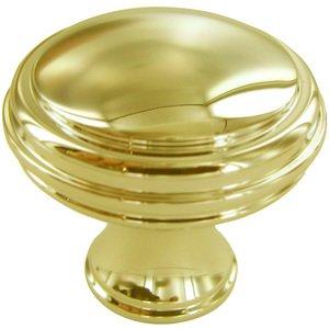"Baldwin Hardware 1 1/4"" Diameter Severin C Knob in Polished Brass"