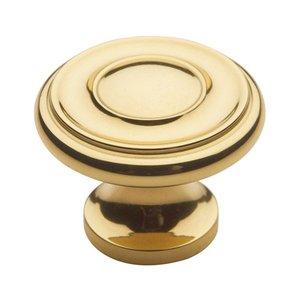 "Baldwin Hardware 1"" Diameter Dominion Knob in Polished Brass"
