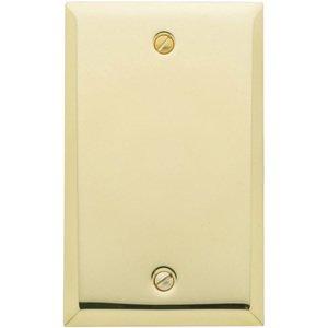Baldwin Hardware Single Blank Beveled Edge Switchplate in Polished Brass