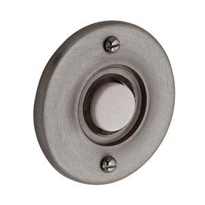 """Baldwin Hardware 1 3/4"""" Round Bell Button in Antique Nickel"""