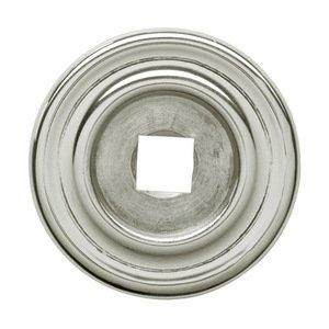 "Baldwin Hardware 1 1/4"" Diameter Plain Knob Backplate in Polished Nickel"